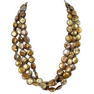 Silpada Freshwater Pearl Triple Strand Necklace
